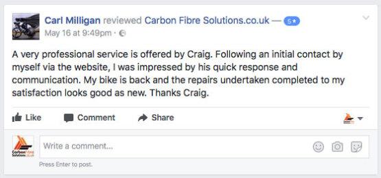 Carl Milligan facebook feedback