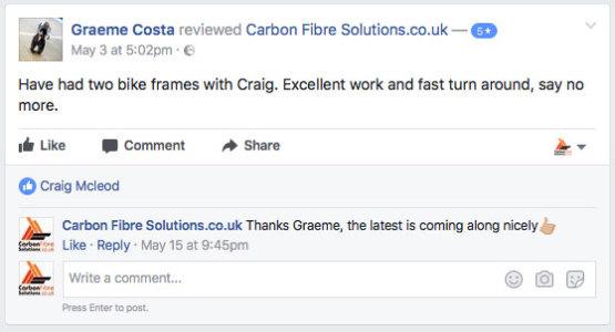 Graeme Costa facebook feedback