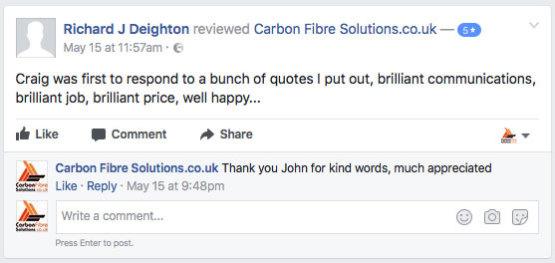 John Deighton Facebook feedback