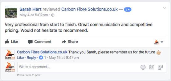 Sarah Hart facebook feedback