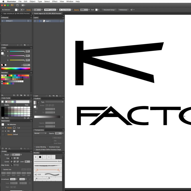 Kota K Factor graphics We created replacement graphics on the Apple Mac and produced templates for repaired frame section.