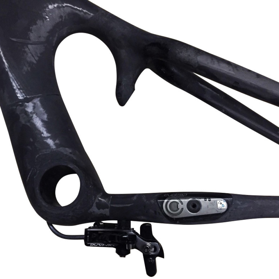 Custom frame with integrated Bontrager Duo Trap