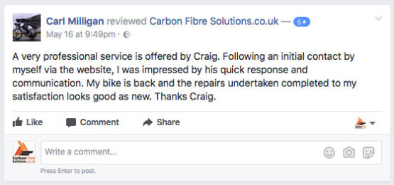 Carl Milligan facebook feedback