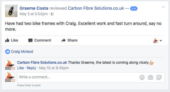 Graeme Costa facebook feedback