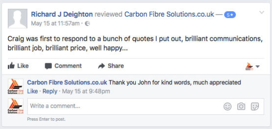 John Deighton Facebook feedback